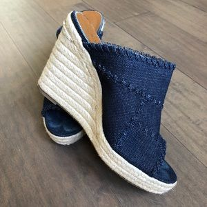❤️CROWN VINTAGE❤️Denim Wedge